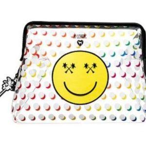 Victoria's Secret Bags - Victoria's Secret LARGE Emoji Face Bag Pouch